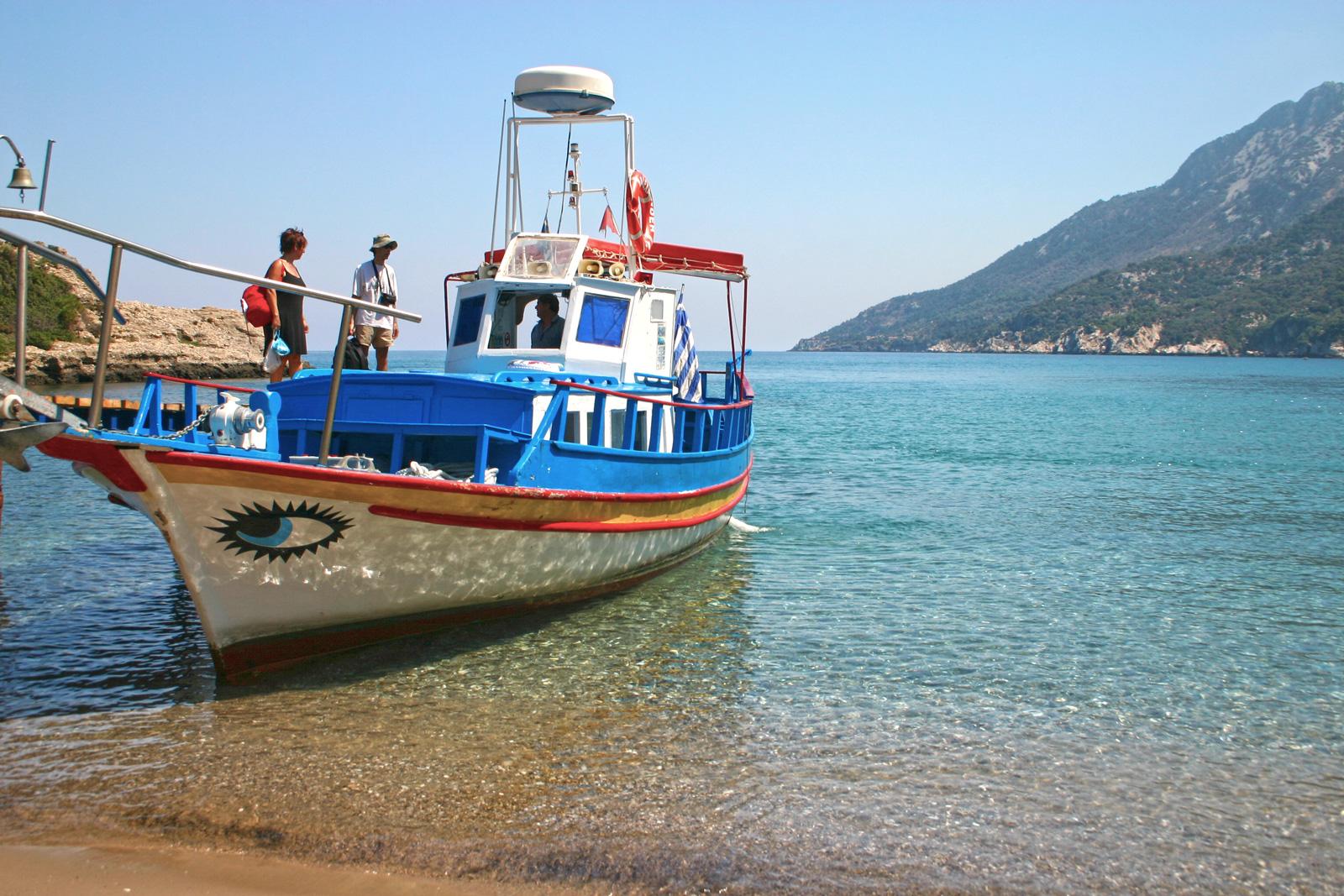 Explore the beaches in Samos